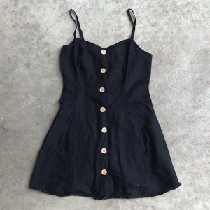 Urban Outfitters black button up dress